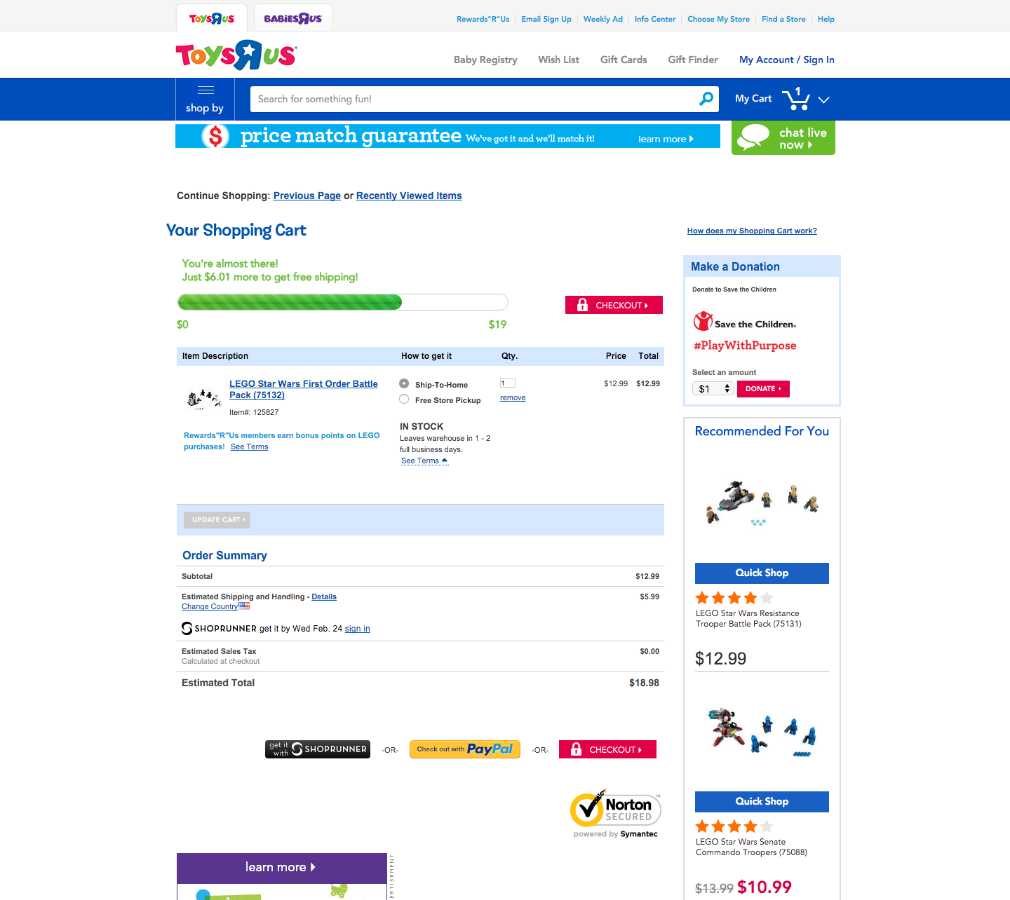 Why Toys R Us is doing a bad job at checkout