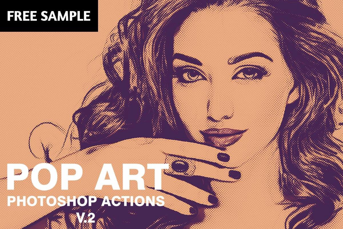 Free pop art photoshop actions v2