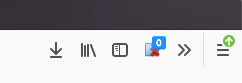 Screenshot that shows badged icons on the browser toolbar.