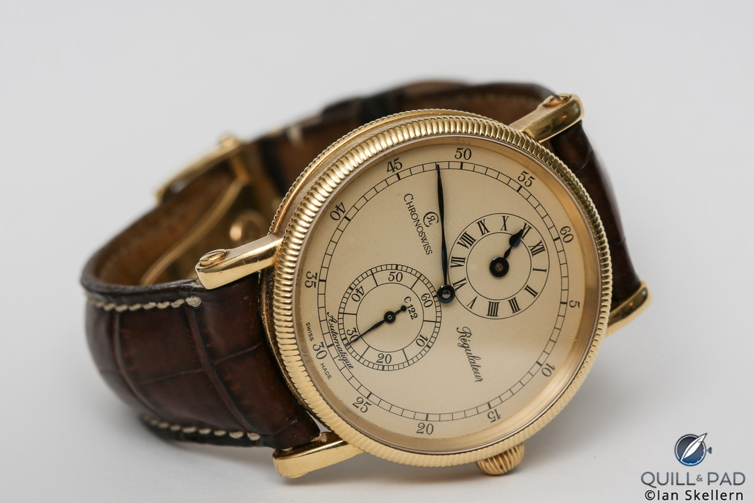 The quintessential Chronoswiss model and the first of its kind: this Régulateur is Gerd-Rüdiger Lang's own watch