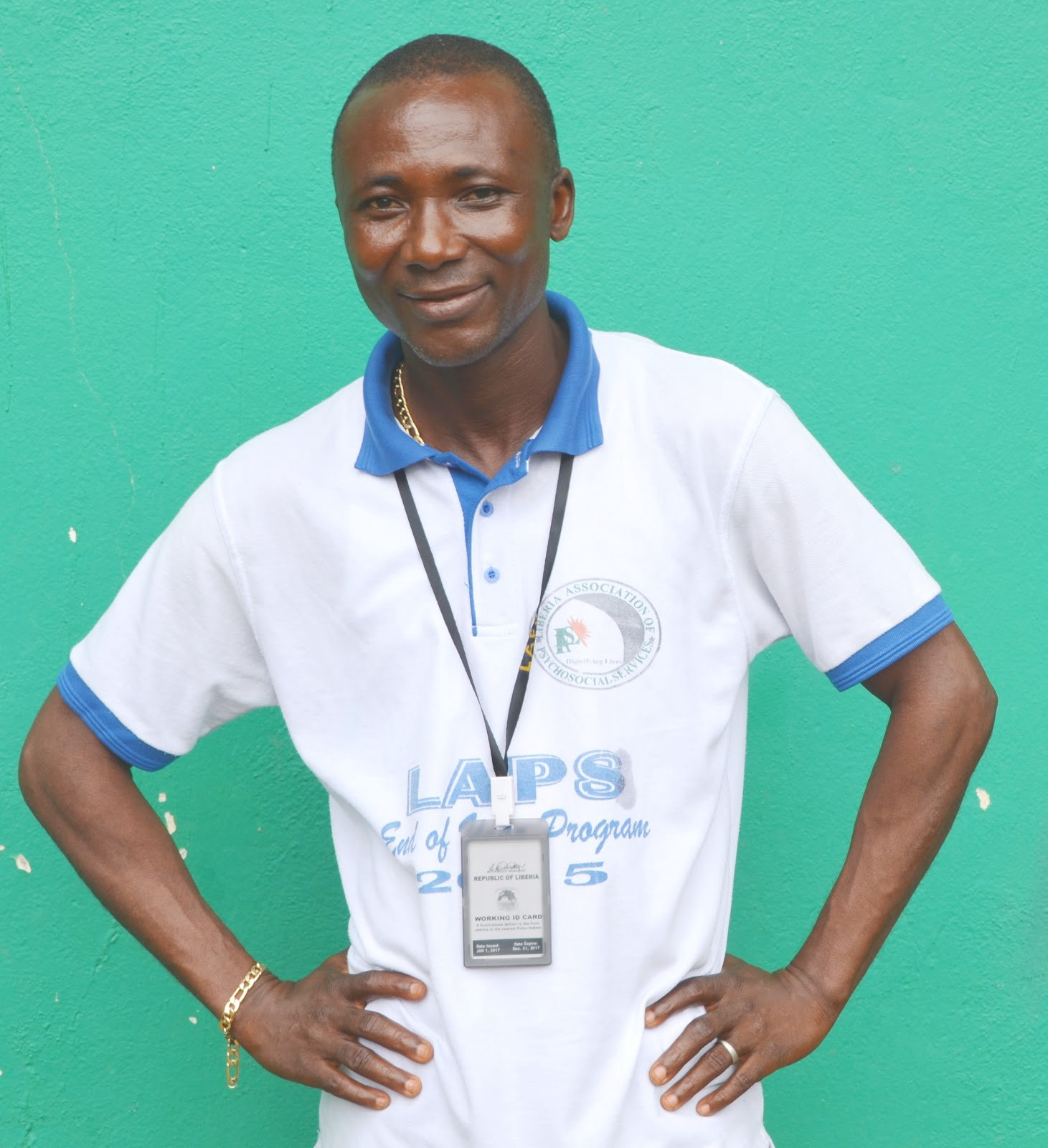 Shiaka M Sannoh, trained in mental health counseling by a U.S. government program as a refugee in Sierra Leone during the Liberian civil war, is helping restore relationships in Doe Community. / Jessica Benton Cooney, USAID