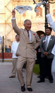 The Prince of Wales joins traditional dancers during a visit to the Central Plaza in Campeche, Mexico, on the eighth day of the Prince of Wales and Duchess of Cornwall's tour to Colombia and Mexico.