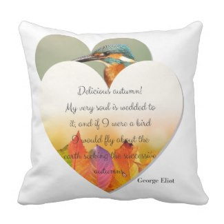 Autumn and Fall Inscribed Quote Pillow