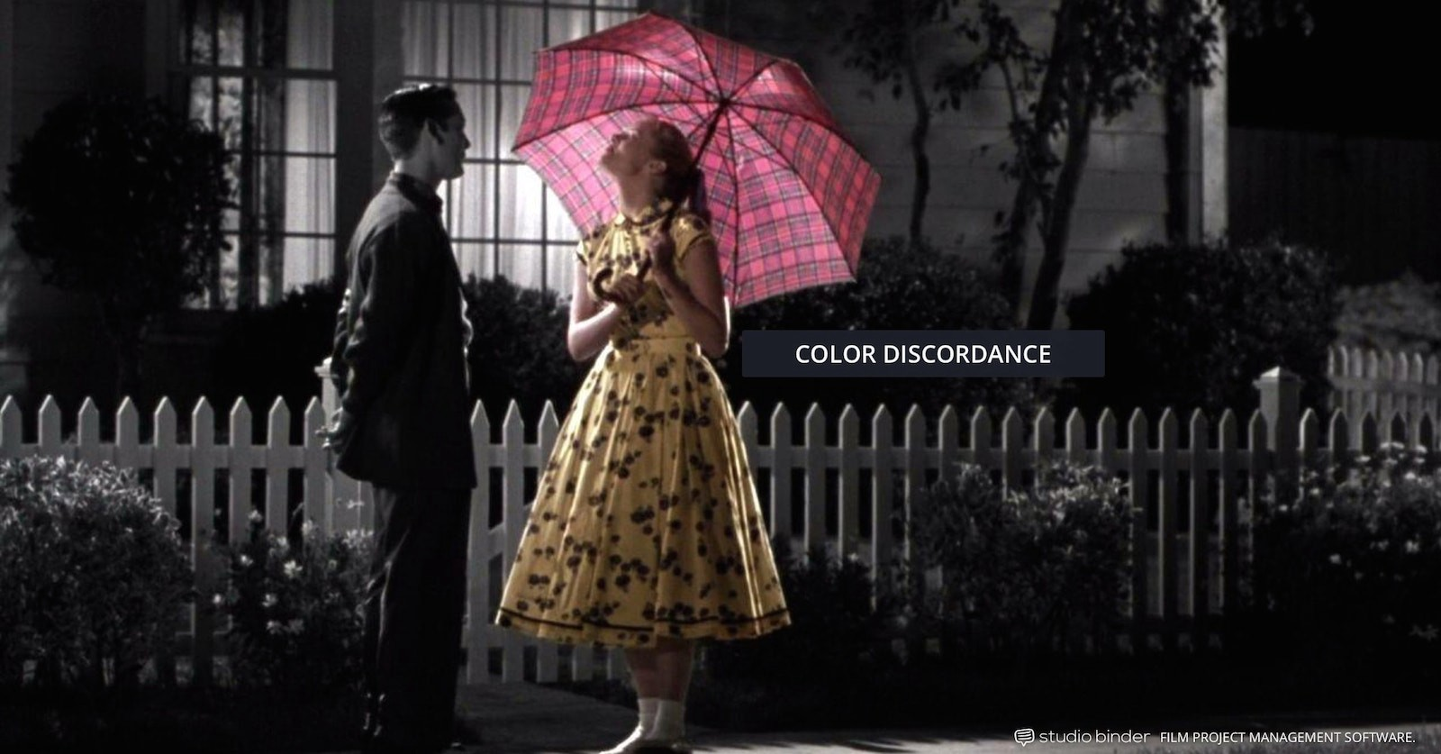 How to Use Color in Film – Example of Movie Color Palette and Scheme – Color Discordance – Pleasantville-min