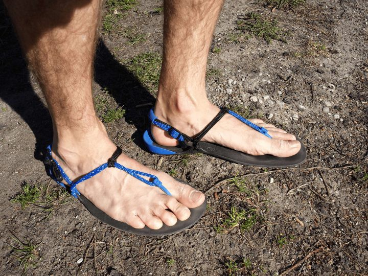Xero Shoes huarache running sandals after