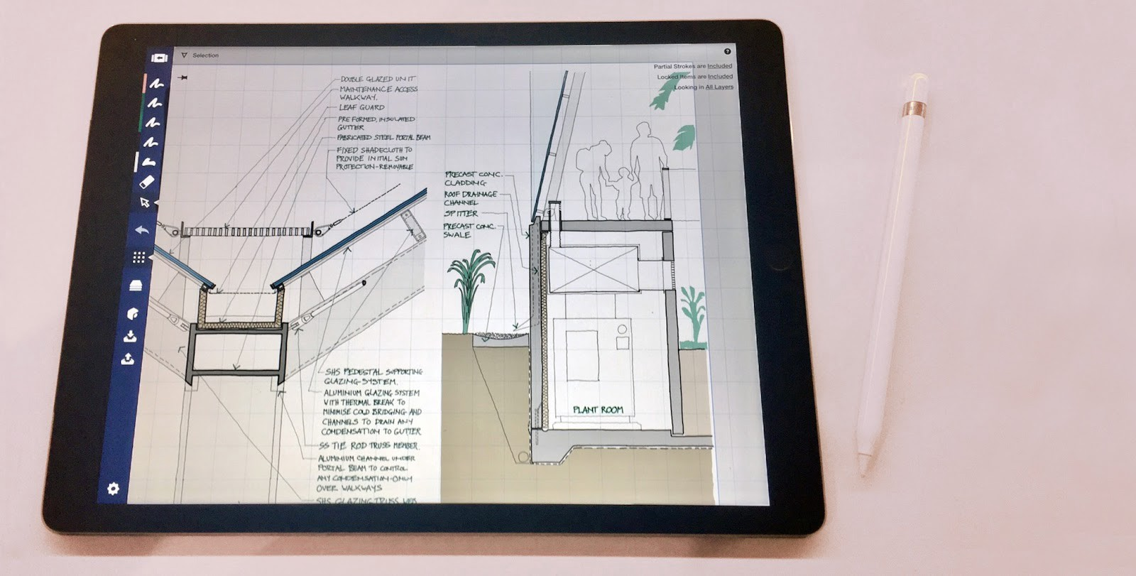 The design life of a paperless architect concepts medium since starting to use the ipad pro my overall process is still very much the same but it has become more streamlined and effectively paperless malvernweather Choice Image