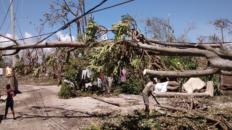 Les Cayes, Haiti - one of the towns hardest-hit by Hurricane Matthew (photo: DFID)