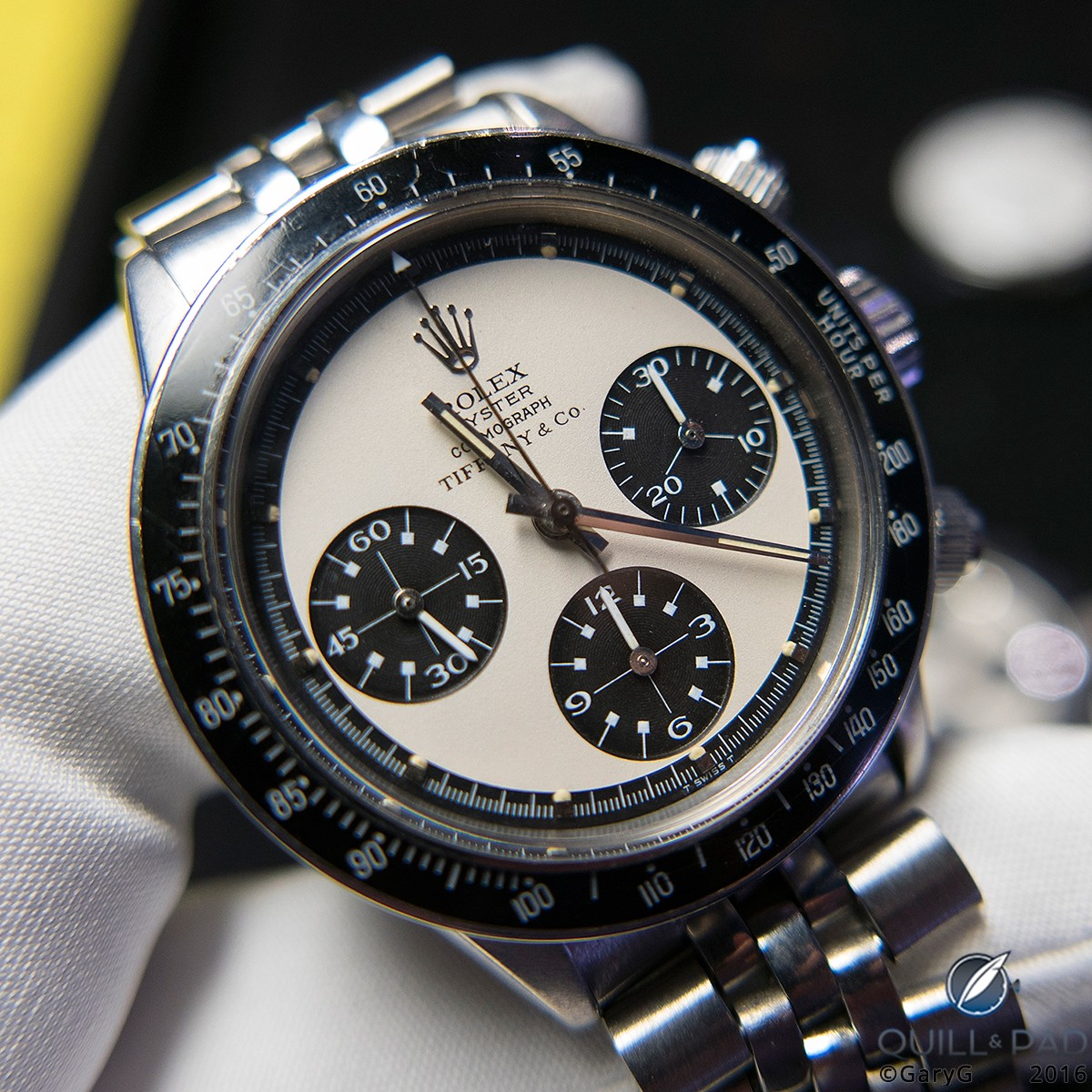 "Rarity plus condition: Tiffany-labeled Rolex ""Paul Newman"" Daytona sold through Phillips"