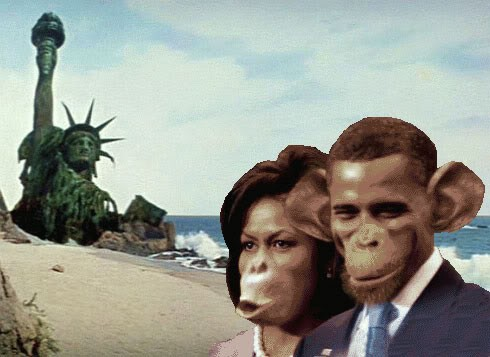 Image result for obama as monkey