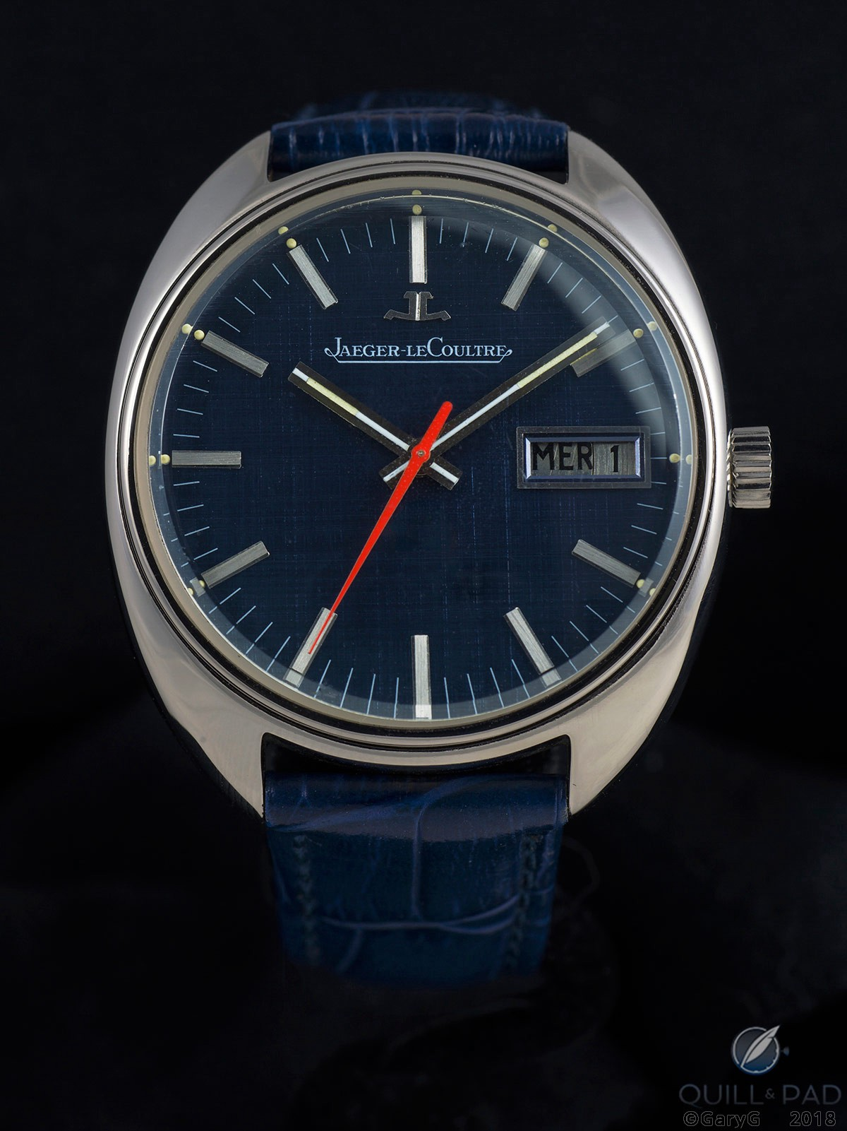 Am I blue? Jaeger-LeCoultre prototype watch showing its blue persona