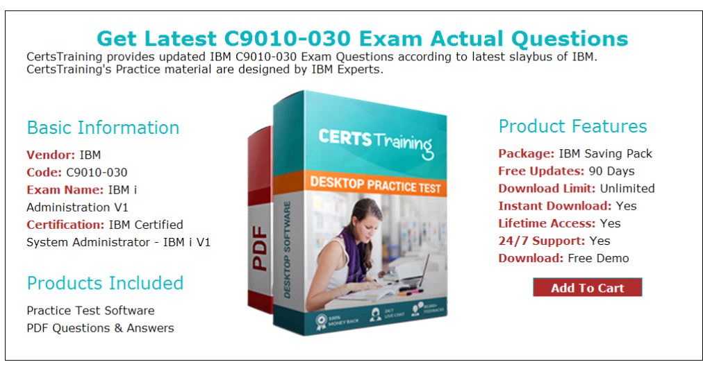 Ibm Certified System Administrator C9010030 Exam Questions Answers