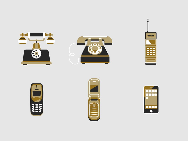Phone icons by Violetta Stolz