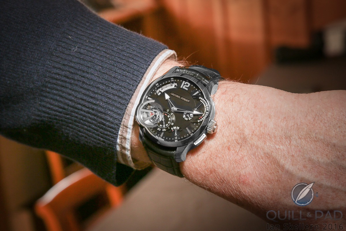 Greubel Forsey Grande Sonnerie on the wrist of Stephen Forsey