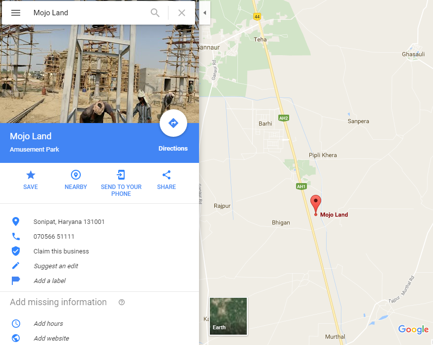 mojo land murthal map