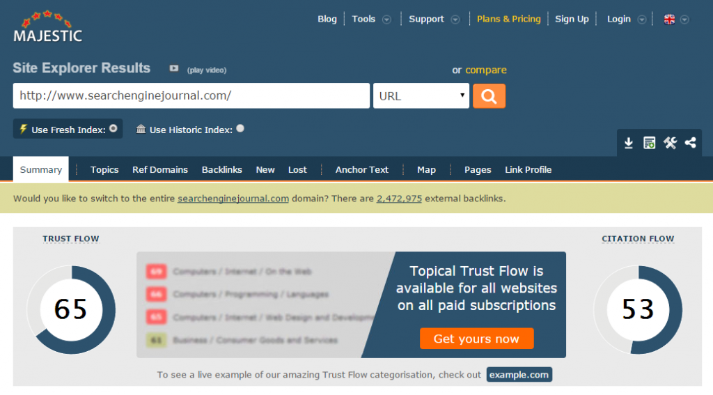 If A Link Pointing To Your Website Is Authoritative And Qualitative Then Your Trust Flow Will Increase To Know More About Trust Flow You Can Check Our