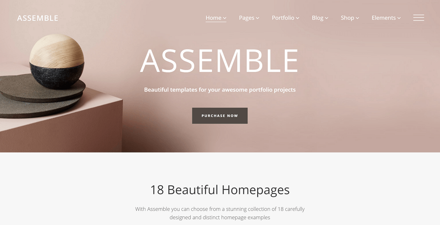 assemble is a free online portfolio website where you can make awesome portfolio projects it contains 18 beautiful homepages and you are free to pick any - Best Free Website Templates