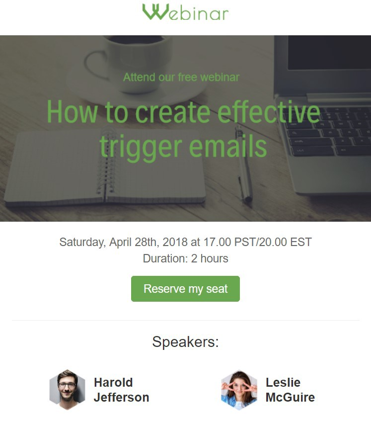 Webinar invitation email stripo medium use this webinar email template to invite your subscribers to a webinar stopboris Choice Image