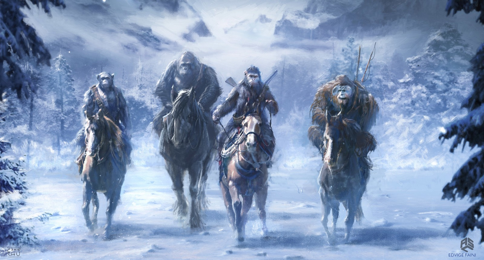 war for the planet of the apes concept art illustration collection