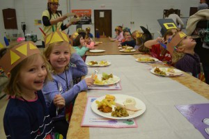 The students at Evesham's Teddy Bear Academy learned the value of giving back this Thanksgiving when each of the seven classrooms at the academy collected a box full of items for Wiley Food Pantry. To celebrate, on Nov. 26 the kids walked down to the cafeteria at Marlton Middle School to have their own Thanksgiving feast. The first academy opened in late June.