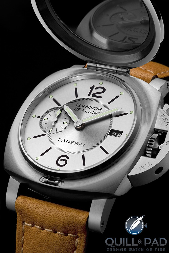Panerai Luminor 1950 Sealand 3 Days Automatic Acciaio with cover open