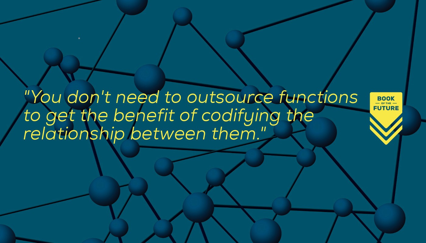 You don't need to outsource functions to get the benefit of codifying the relationship between them.