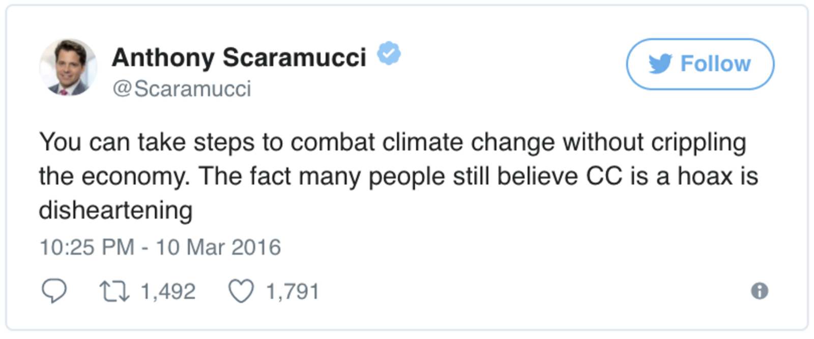 Image result for scaramucci hates trump
