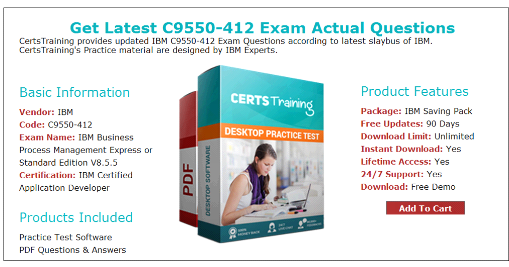 Pass Ibm Business Process C9550412 Exam Easily With Questions And