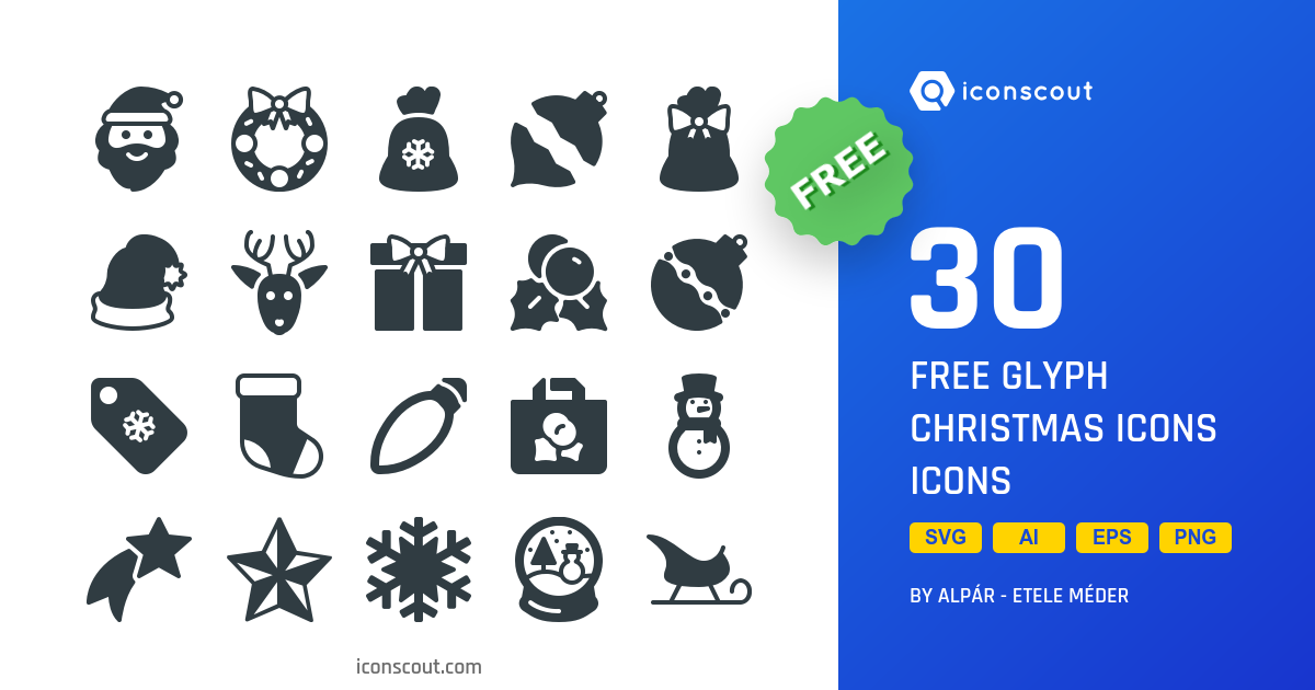 Free Glyph Christmas Icons icons by Those Icons