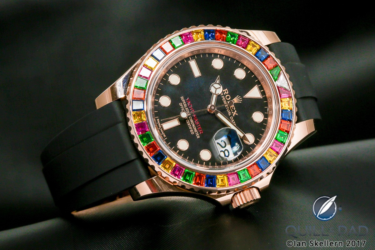 Colorful Rolex Yacht-Master II in Everose gold