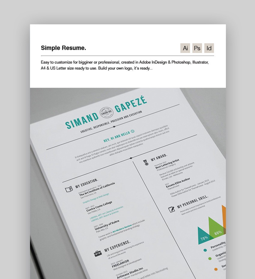 20 best job resume templates  u2013 best digital themes  u2013 medium