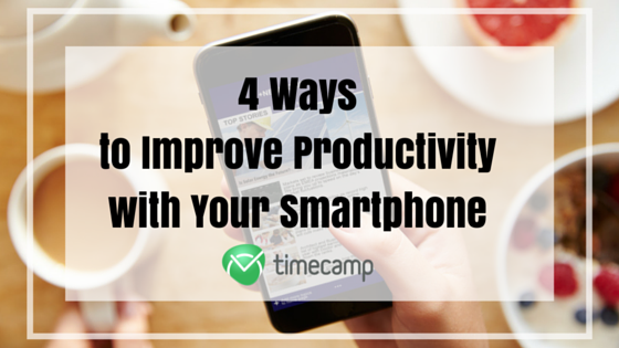 productivity with smartphone