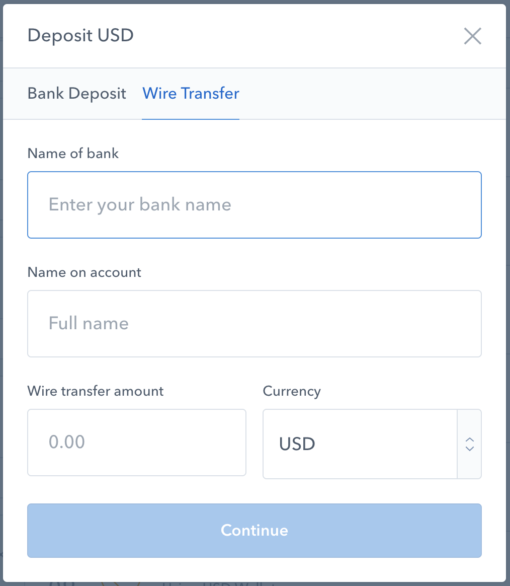 Product Update March 6th The Coinbase Blog Wiring Funds Vs Ach When Sending Wires And Sepa Payments We Have A Few Requirements That Help Us Ensure Are Credited To Your Account In Timely Manner
