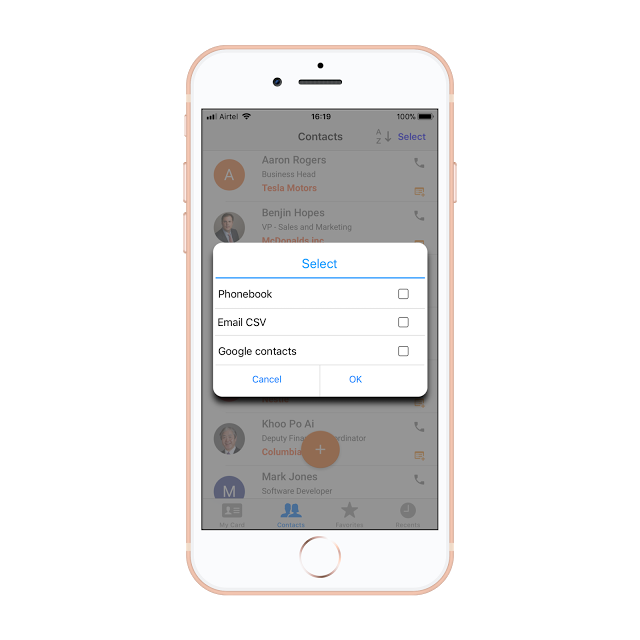 Bric app for ios releasing shortly bricapp medium the business card organizer feature helps sort all the contacts according to name company or recent scans and helps to sync data to the iphone address book colourmoves