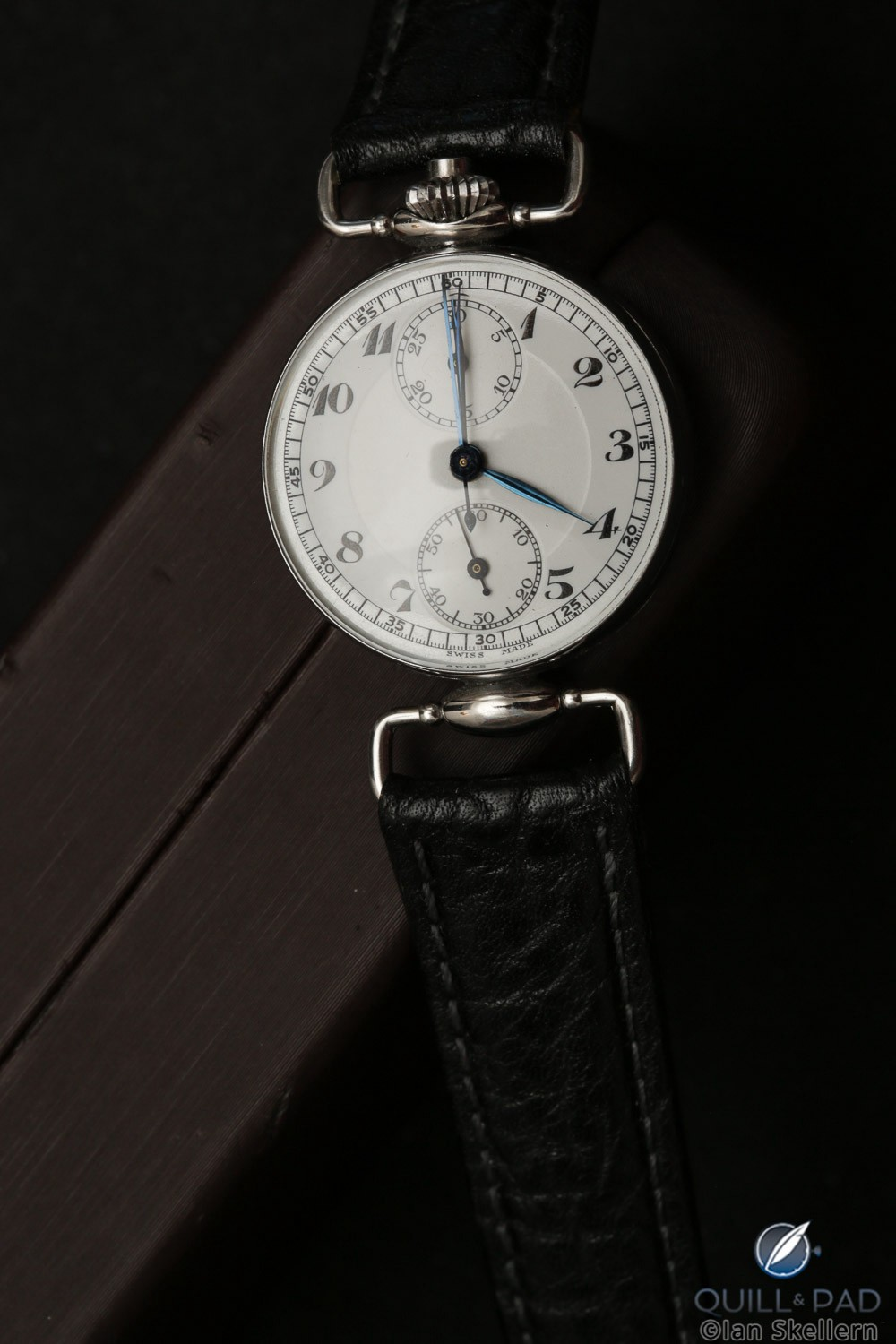 A Pontifa chronograph from about 1935 with vertical clutch from Gerd-Rüdiger Lang's extensive chronograph collection