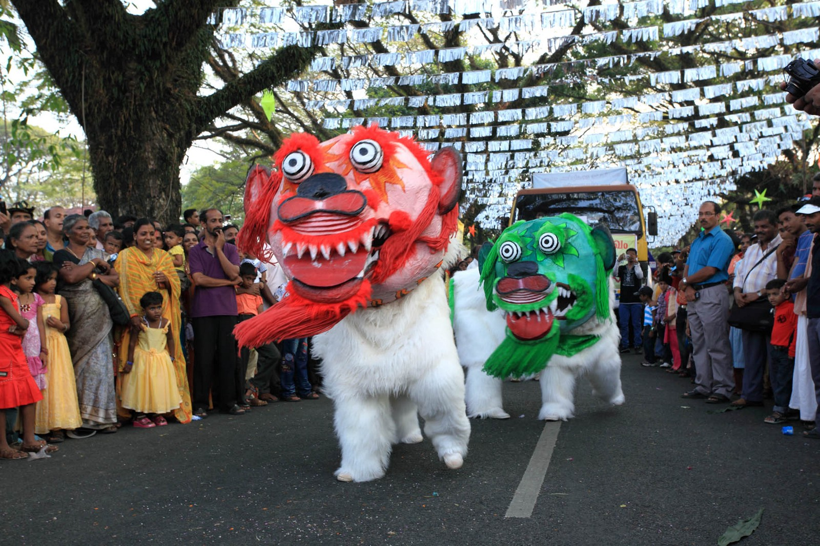 Cochin hosts a carnival every year in the last week of December