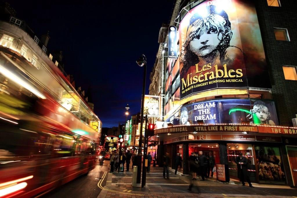 Les Miserables at Queen's Theatre, Shaftesbury Avenue, Soho