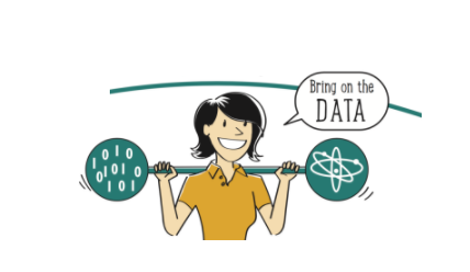 How to Become a Data Scientist. Woman with a barbell