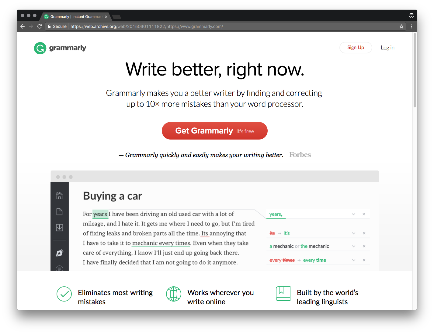 grammarly google extension