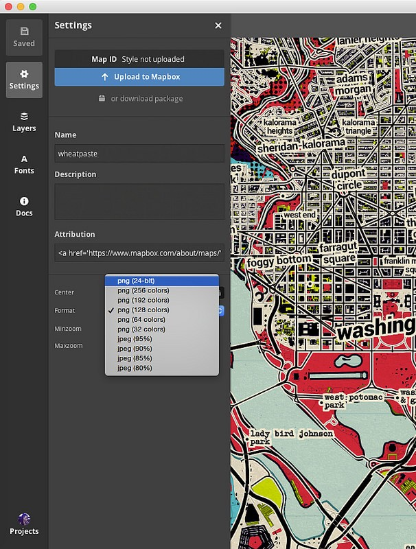 Web to canvas print resolution independence with mapbox studio next i opened the export image panel by clicking the image icon in the top right corner of studio i found that the final image was too large 96 x 59 gumiabroncs Choice Image