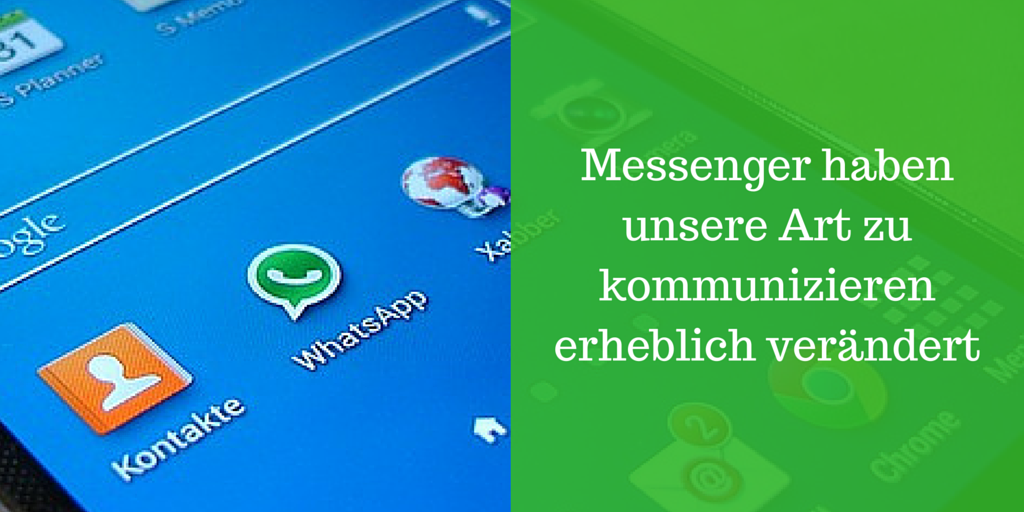 Messenger, Whatsapp, Snapchat