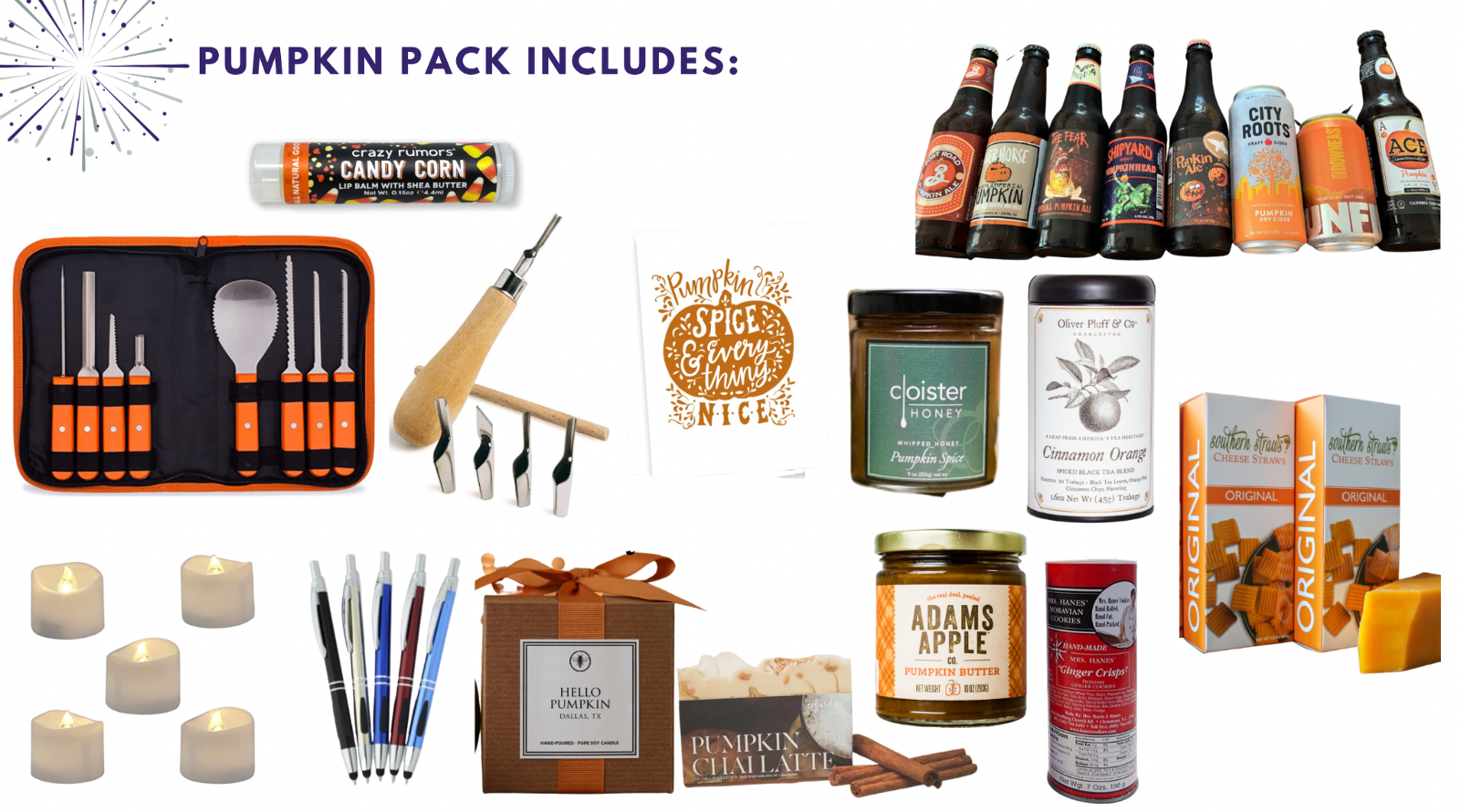 Pumpkin party pack for fall team building event—Book with Eva and Spark by Designs