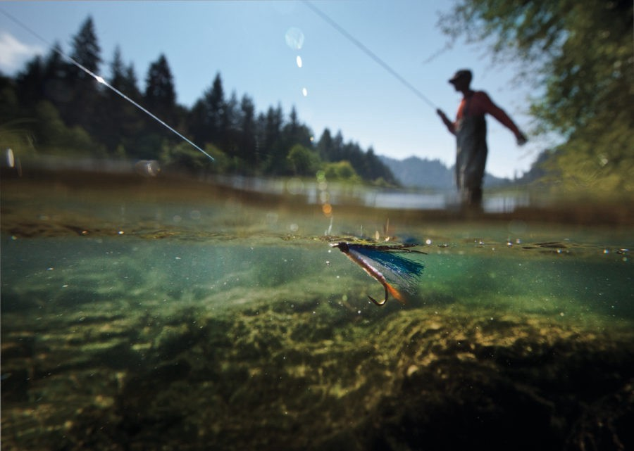 Fishing in Columbia River Gorge