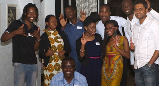 The group of specially selected Lusaka Global Shapers (without Nkatya Kabwe)