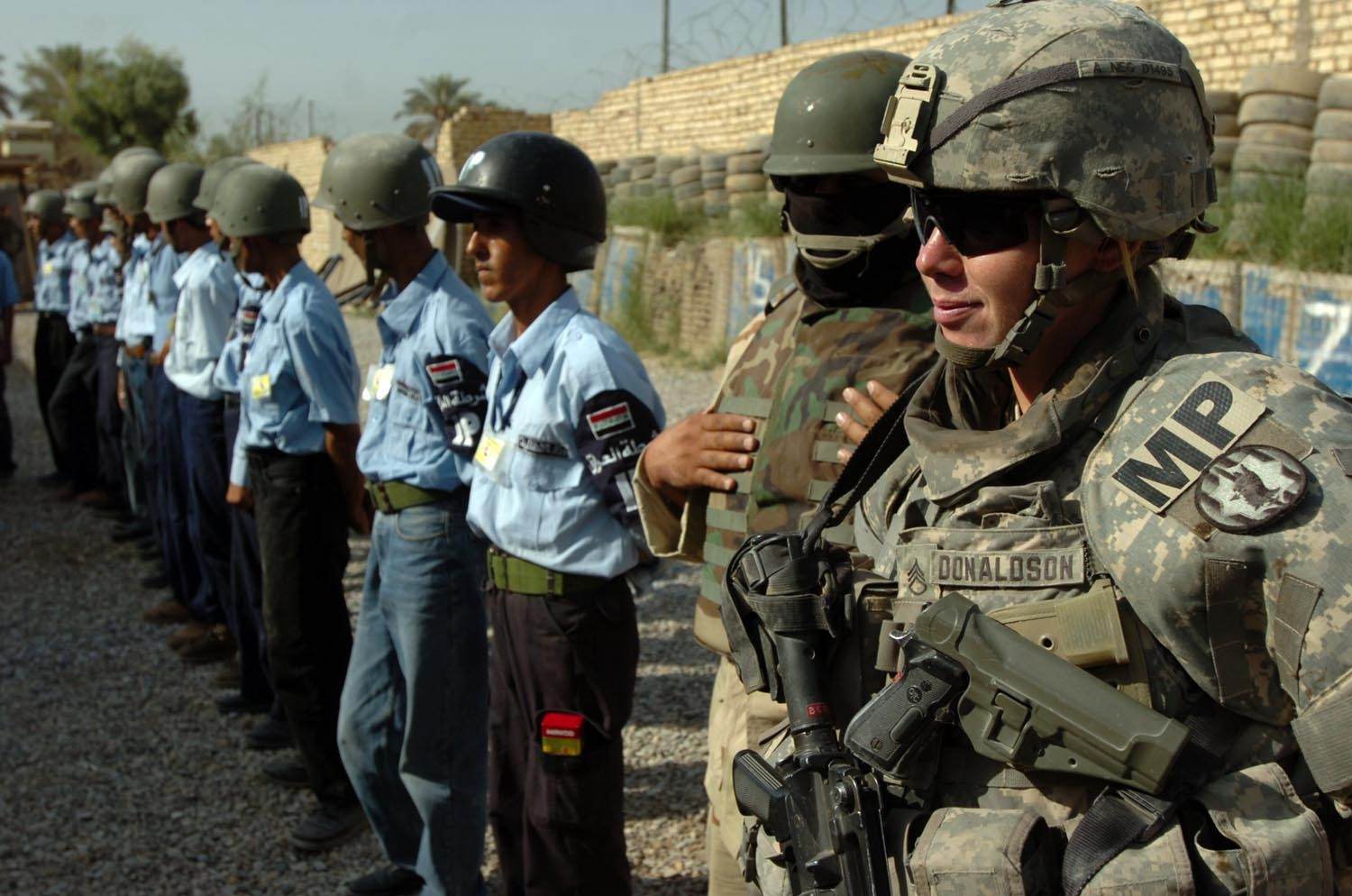 Staff Sgt. Erin Donaldson, an adviser to Iraqi police in Baqubah during The Surge in 2007. U.S. Army photo