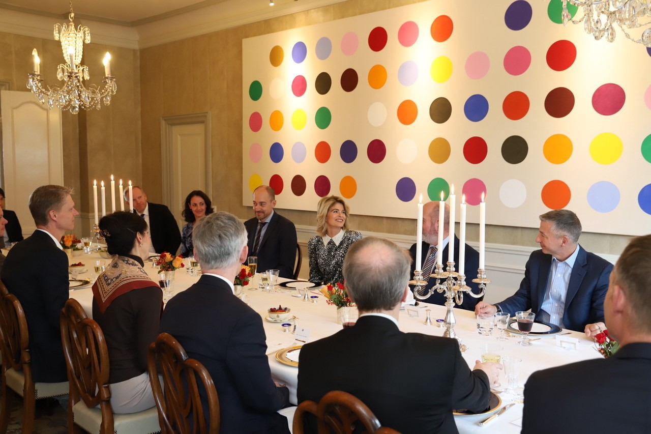 U.S. Ambassador to Denmark Carla Sands hosts a Thanksgiving lunch for key contacts from across Danish society, November 20, 2018
