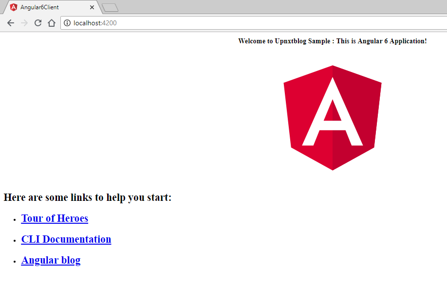 Angular application served from container