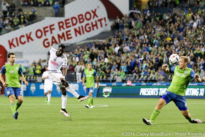 The Union got off to a great start in the second half. CJ Sapong in particular looked consistently menacing.