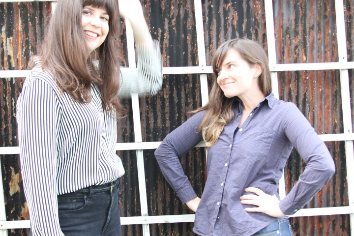 PDA co-founders Sarah Sandman, left, and Jill Peterson, right