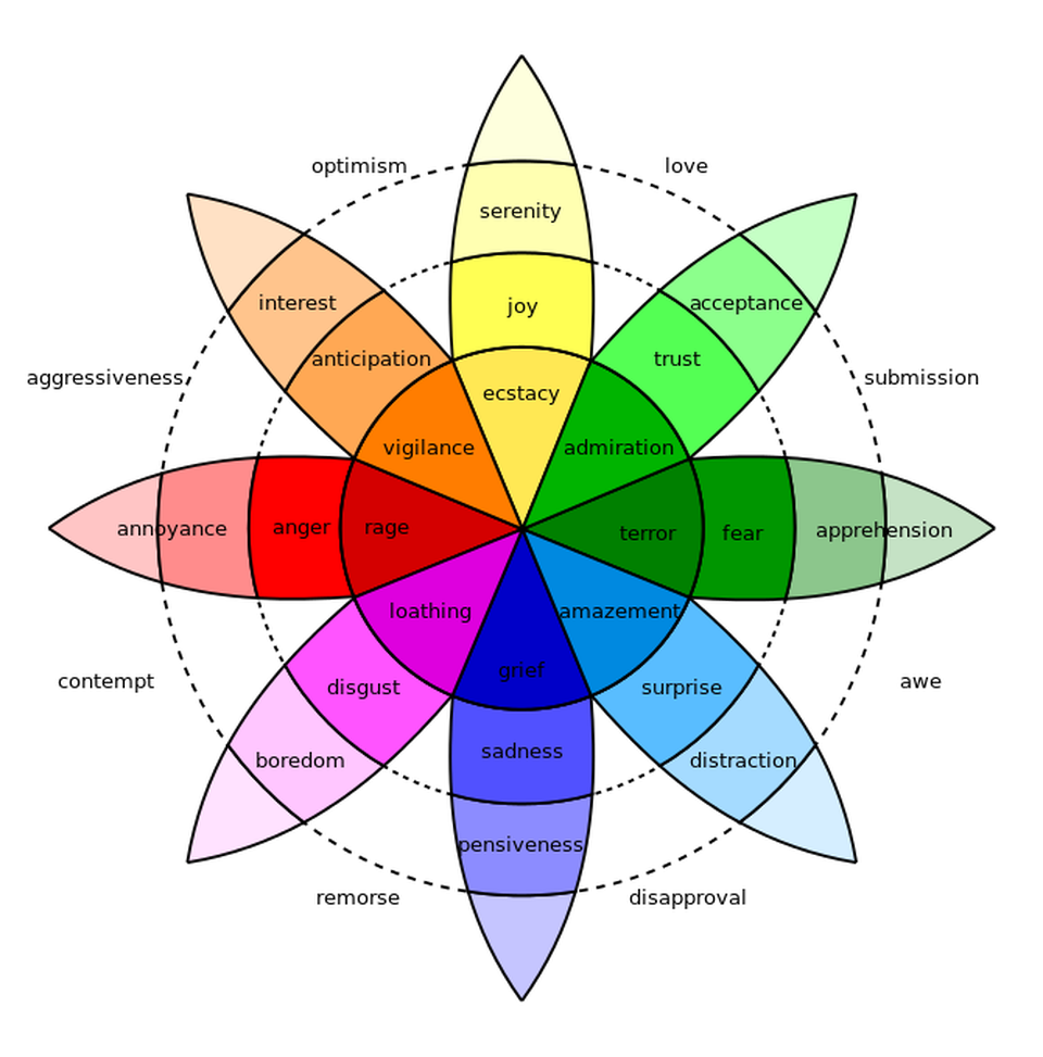 The Psychology of Retail Store Interior Design, Part 1: Color | Wheel of Emotions Robert Plutchik