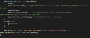 Integrating Blockchain-based Code Signing into Your